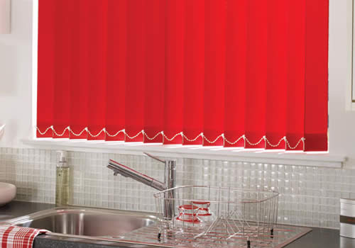 Vertical Blinds in Acacia Pillarbox Red