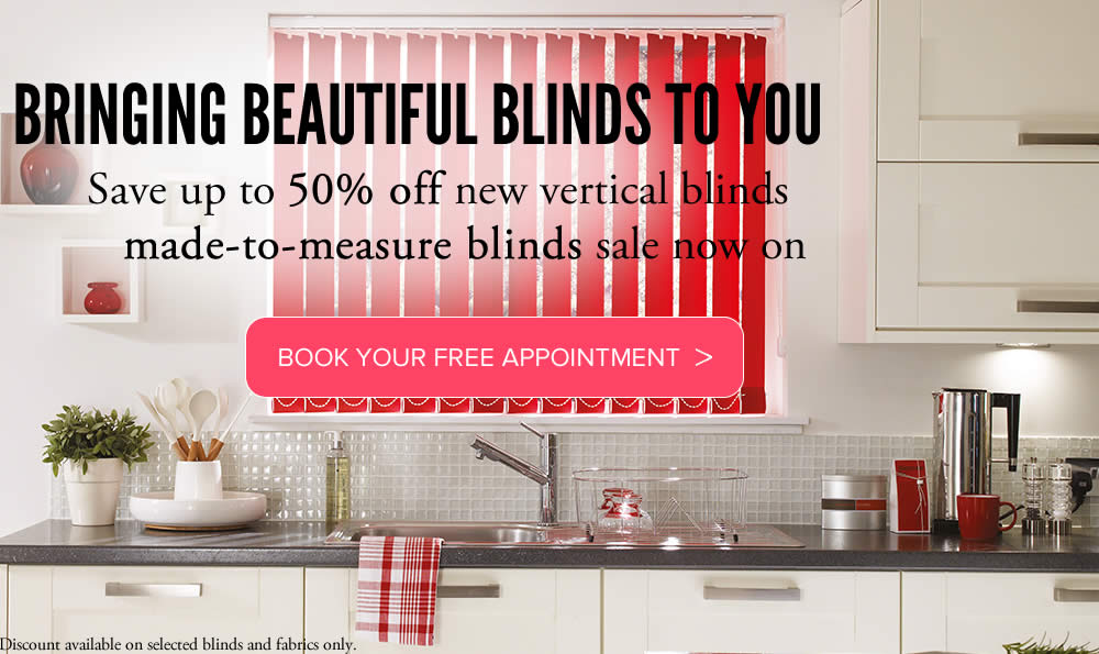 Vertical blinds made to measure from Sunrite Blinds