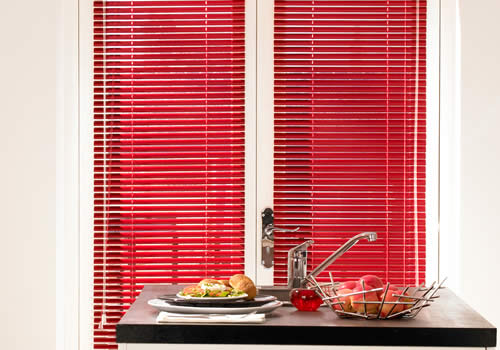 Venetian Blinds in Red