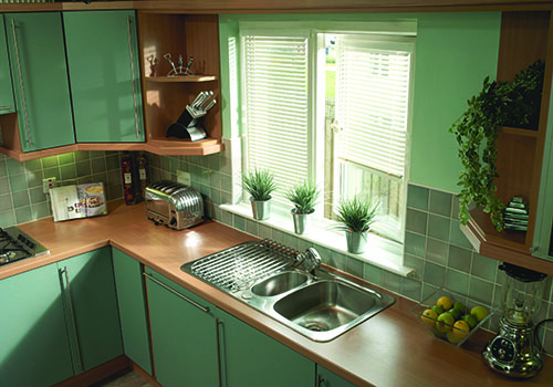 Intu Venetians in kitchen