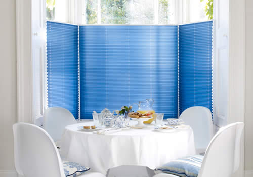 Pleated blinds in mirabel navy