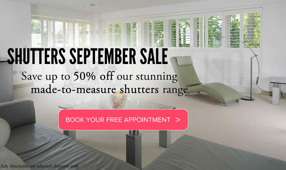 Book your appointment for free shutters consultation