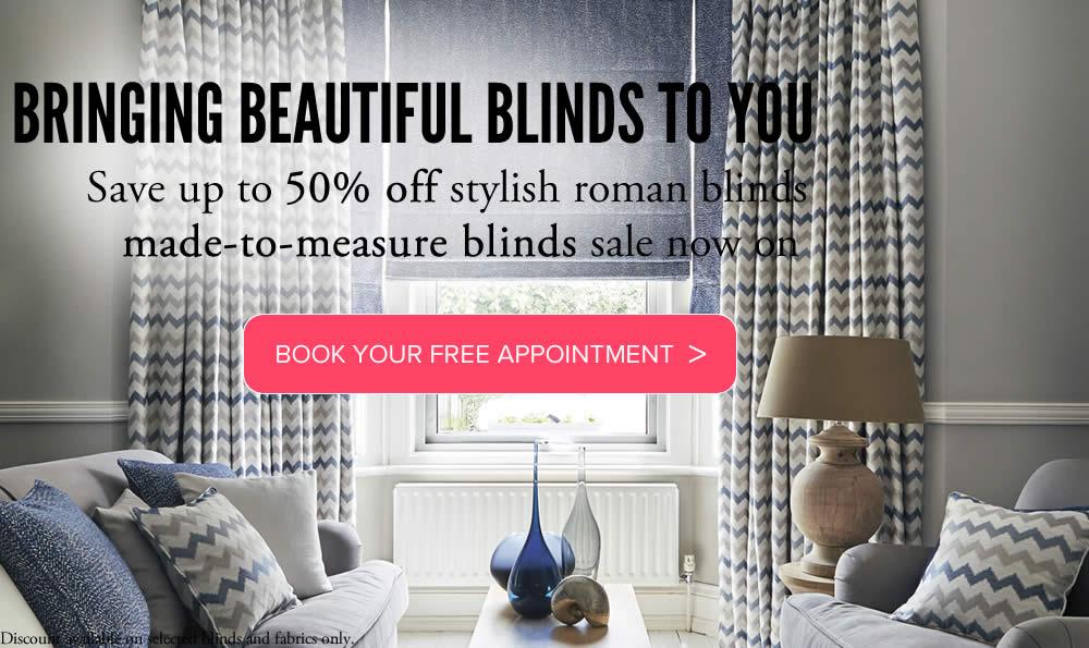 Roman blinds made to measure from Sunrite Blinds